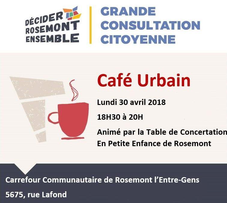 Consultation citoyenne: Le café urbain!