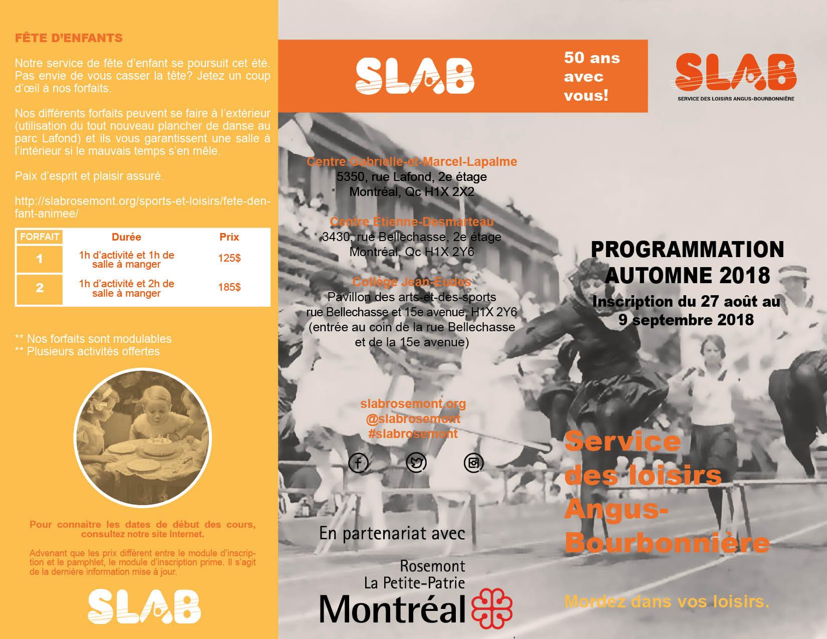SLAB Brochure EXTER - Automne 2018