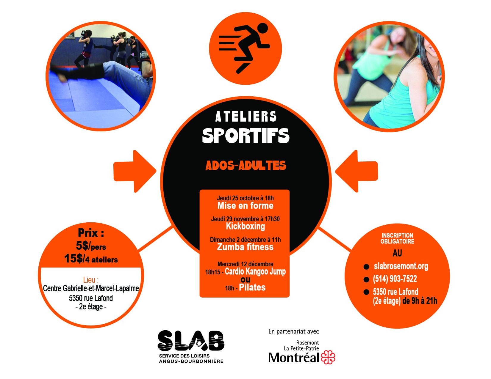 Matériel - Ateliers sportifs ado-adultes_