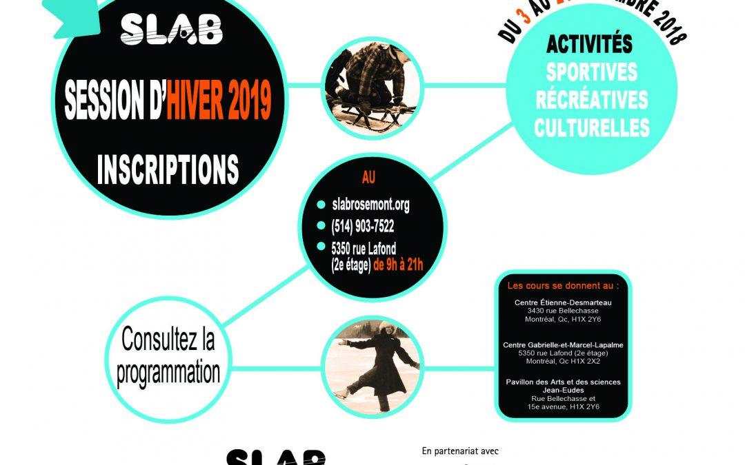 Pré-inscriptions et inscriptions : session d'Hiver 2019