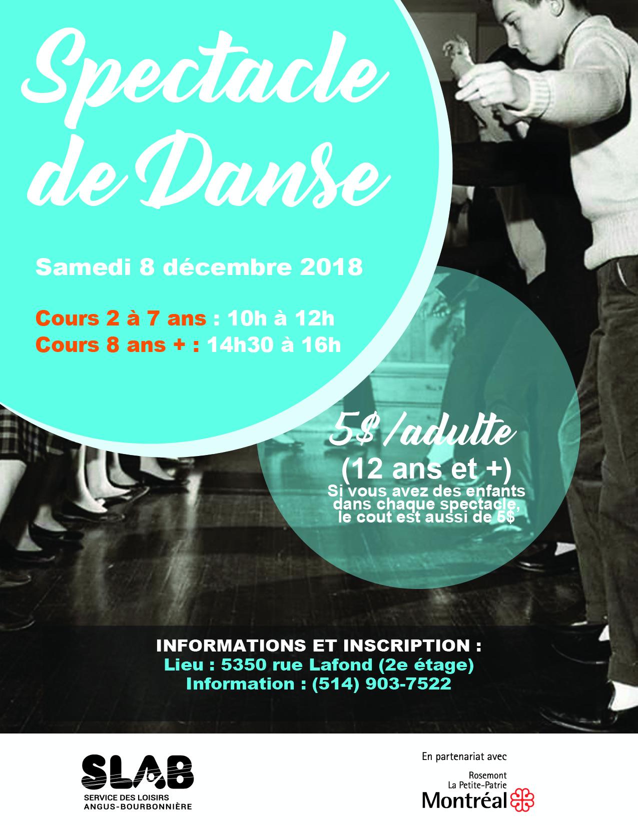Matériel - Spectacle de danse affiche - Bonne version