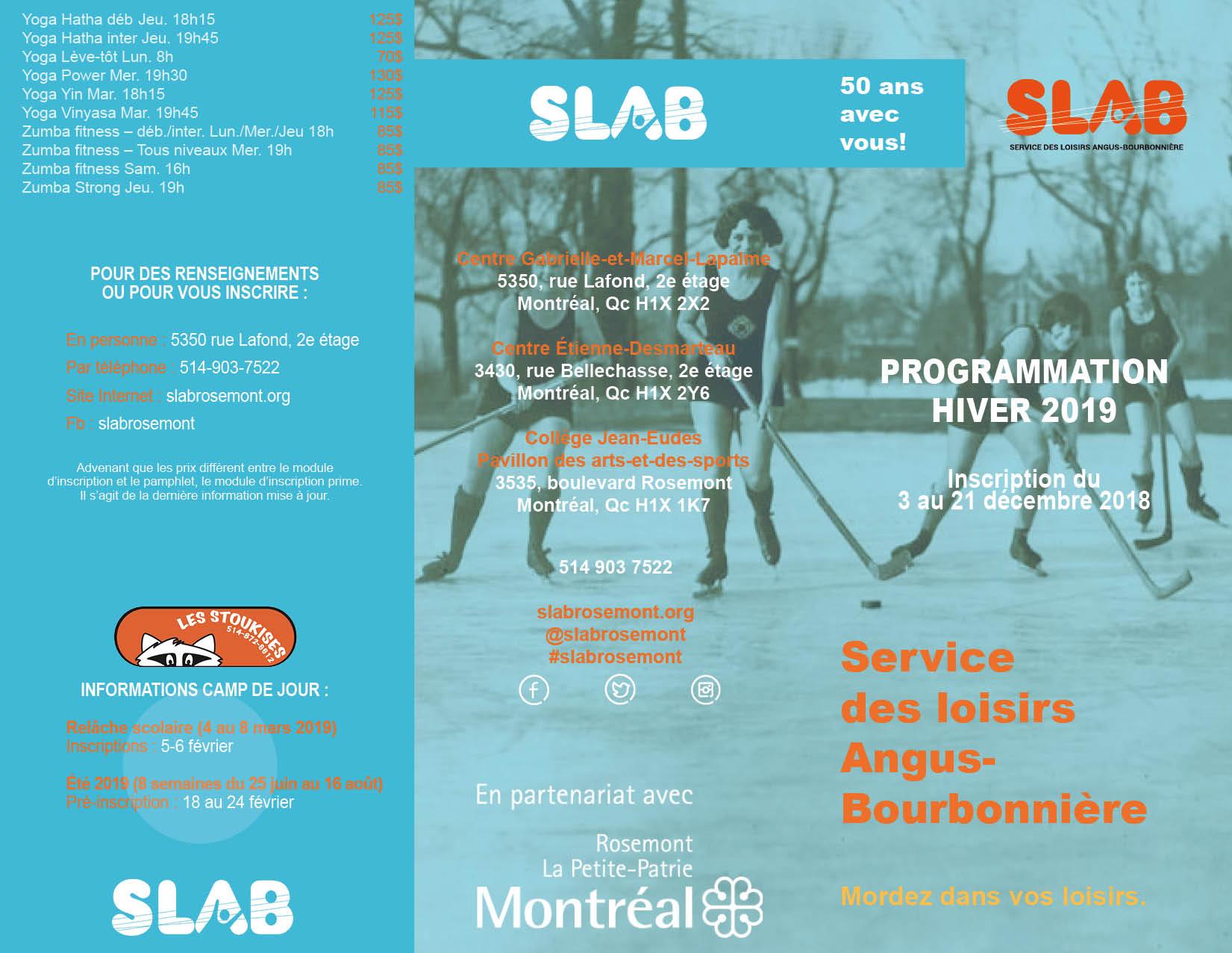 SLAB Brochure EXTER - Hiver 2019
