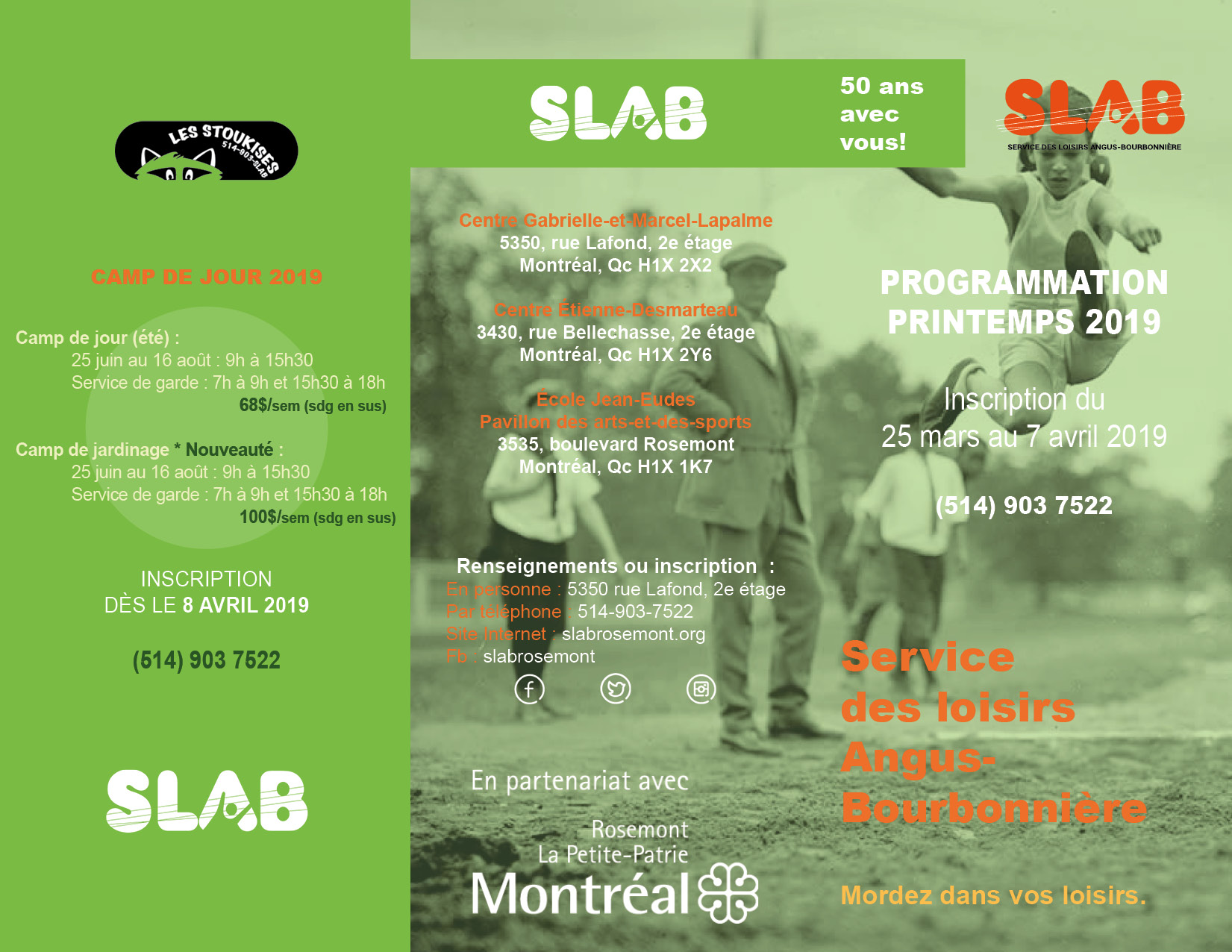 SLAB Brochure - A - Printemps 2019