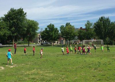 Soccer au parc Lafond